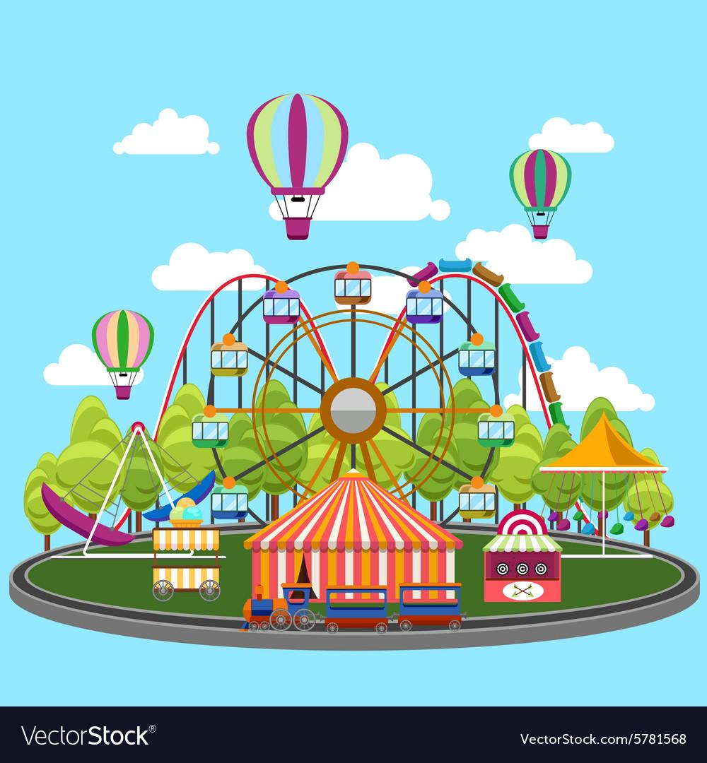 Carousel in flat design vector image