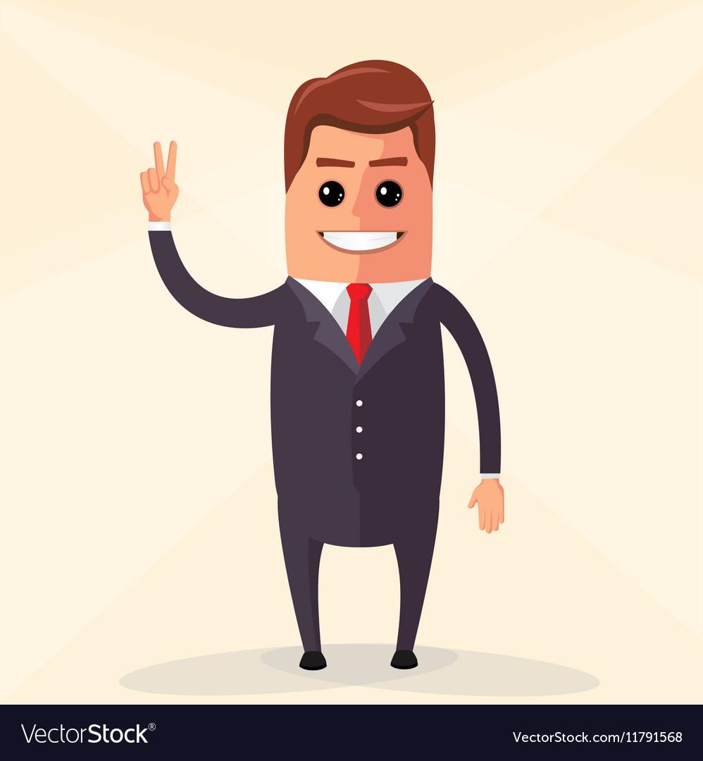 Flat design Business man vector image