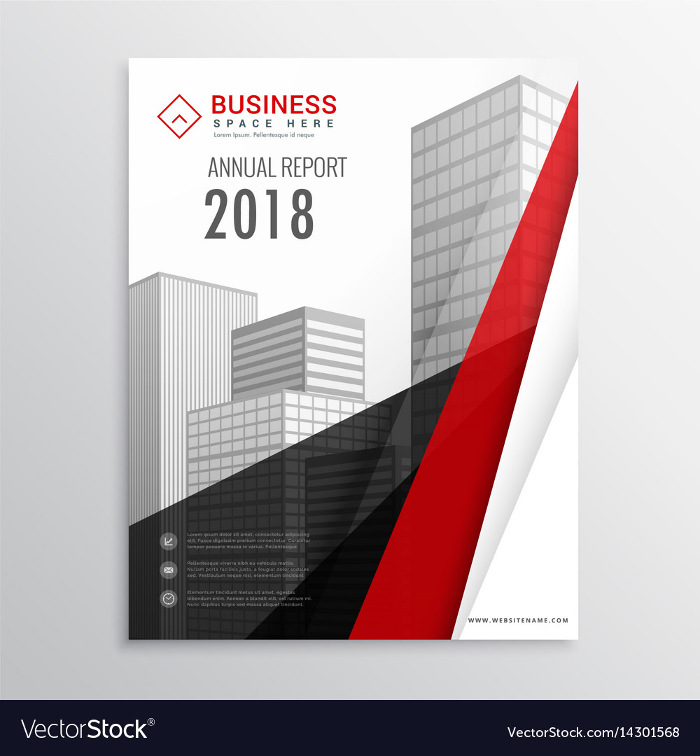 Red and black brochure flyer template with vector image