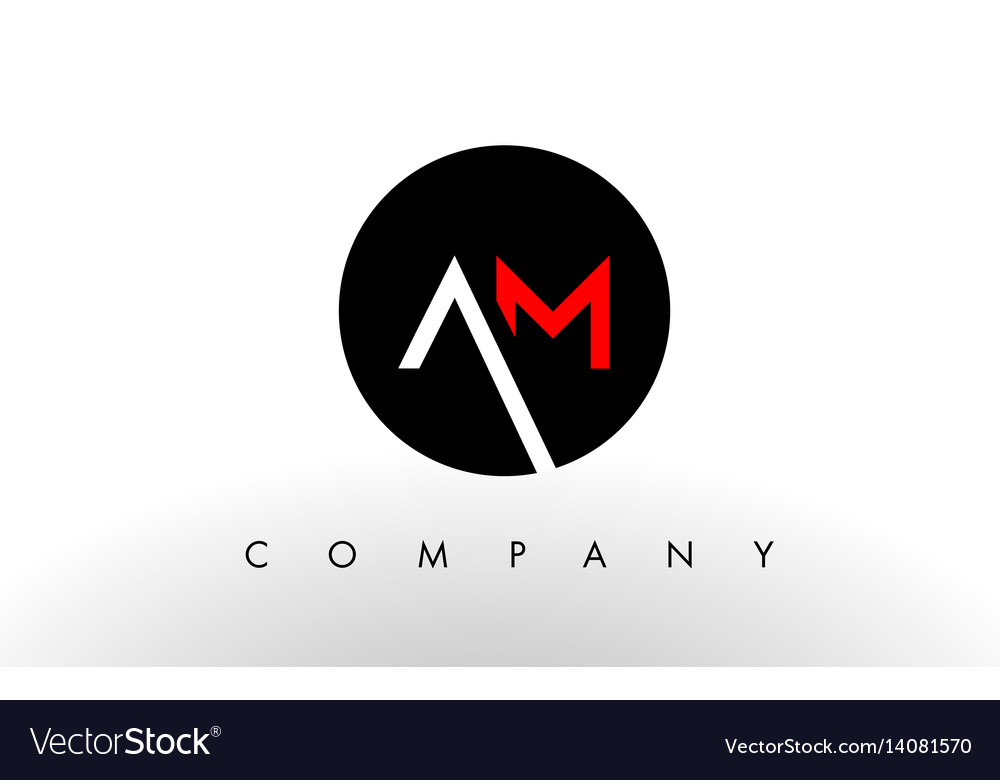 Am logo letter design vector image