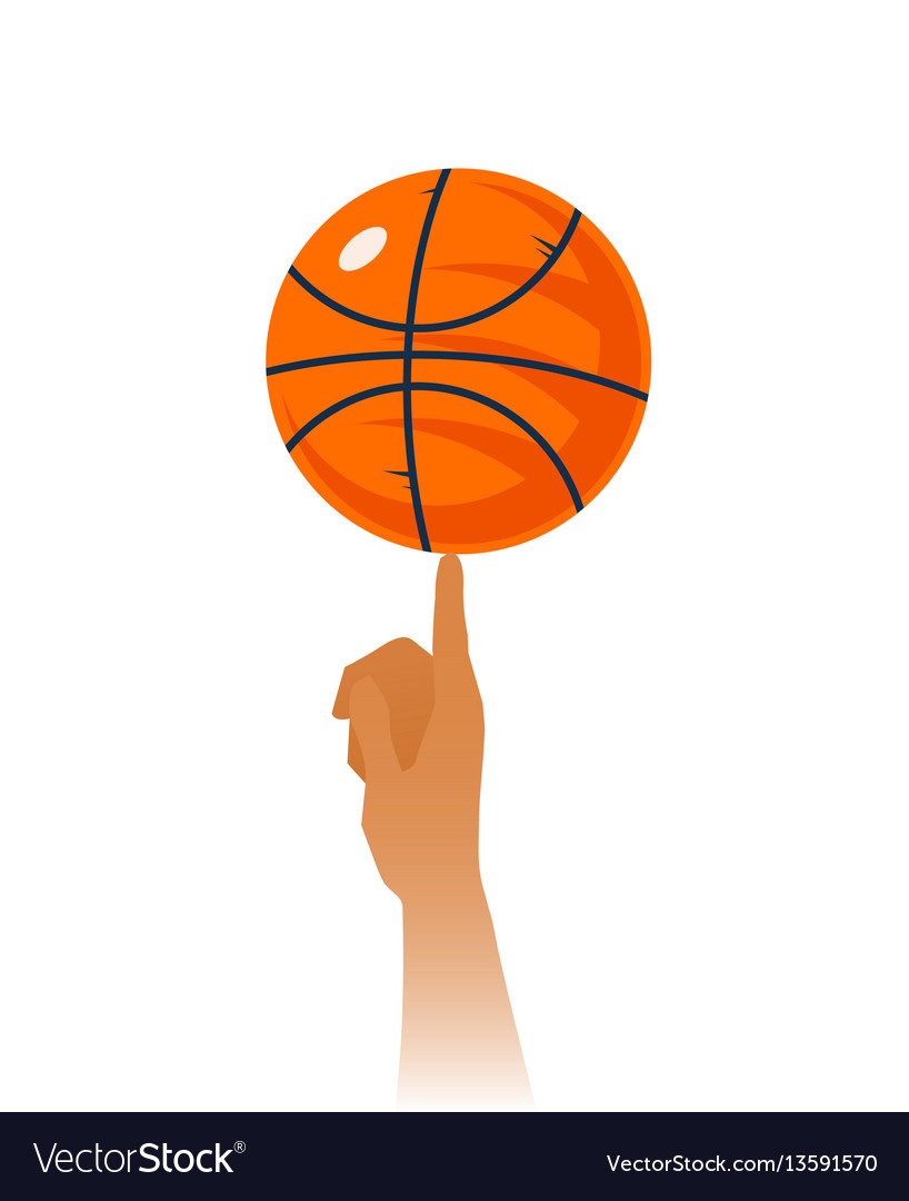 Basketball skills closeup vector image