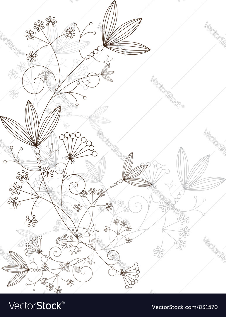 Grasses design elements grassy ornament vector image
