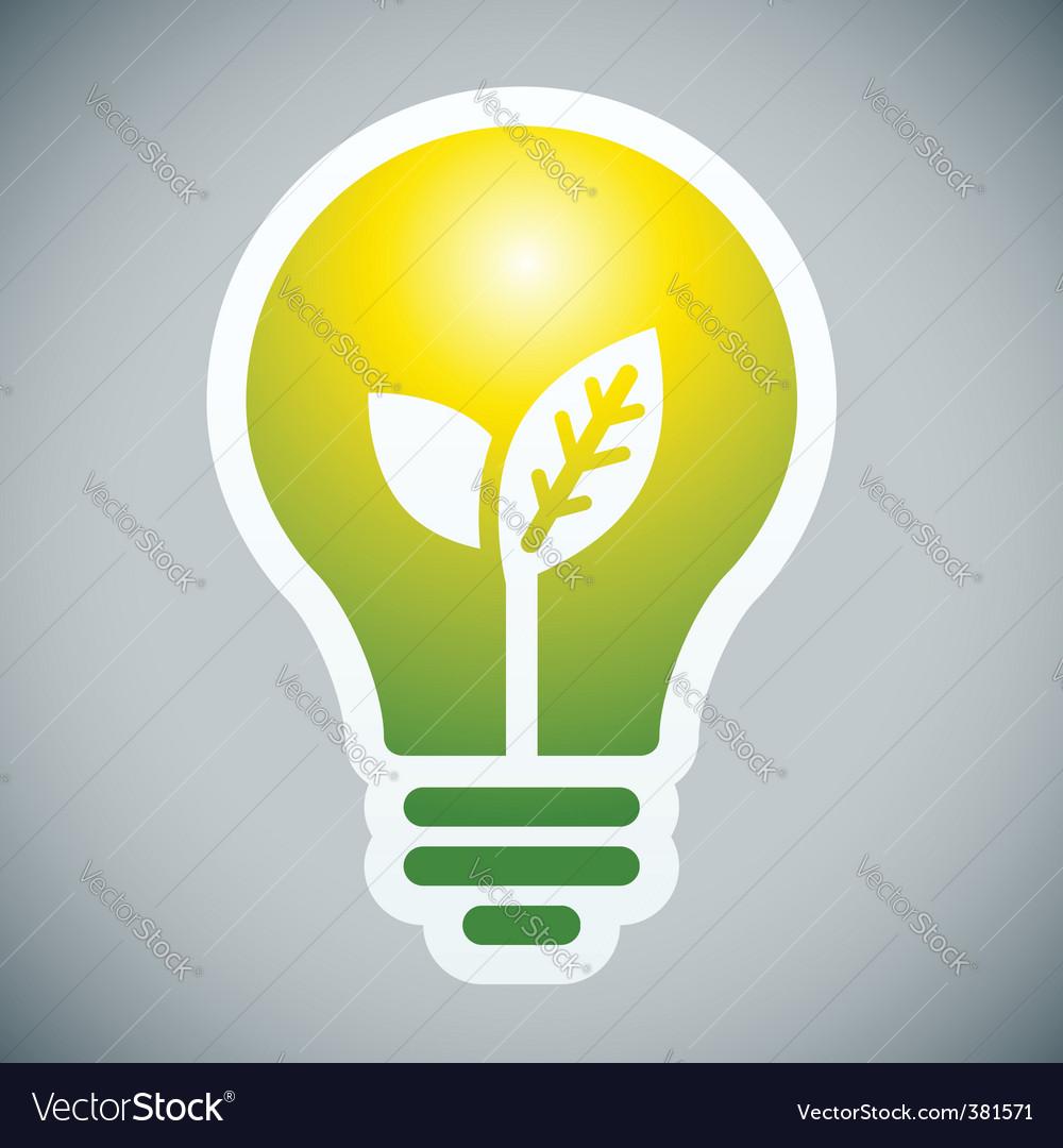 Ecology bulb Vector Image