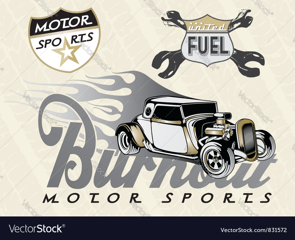 Classic car 4 vector image