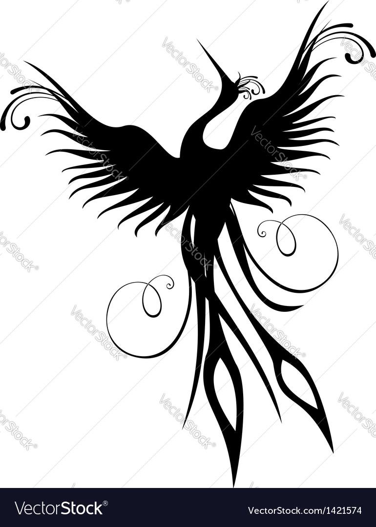 Phoenix bird figure isolated vector image