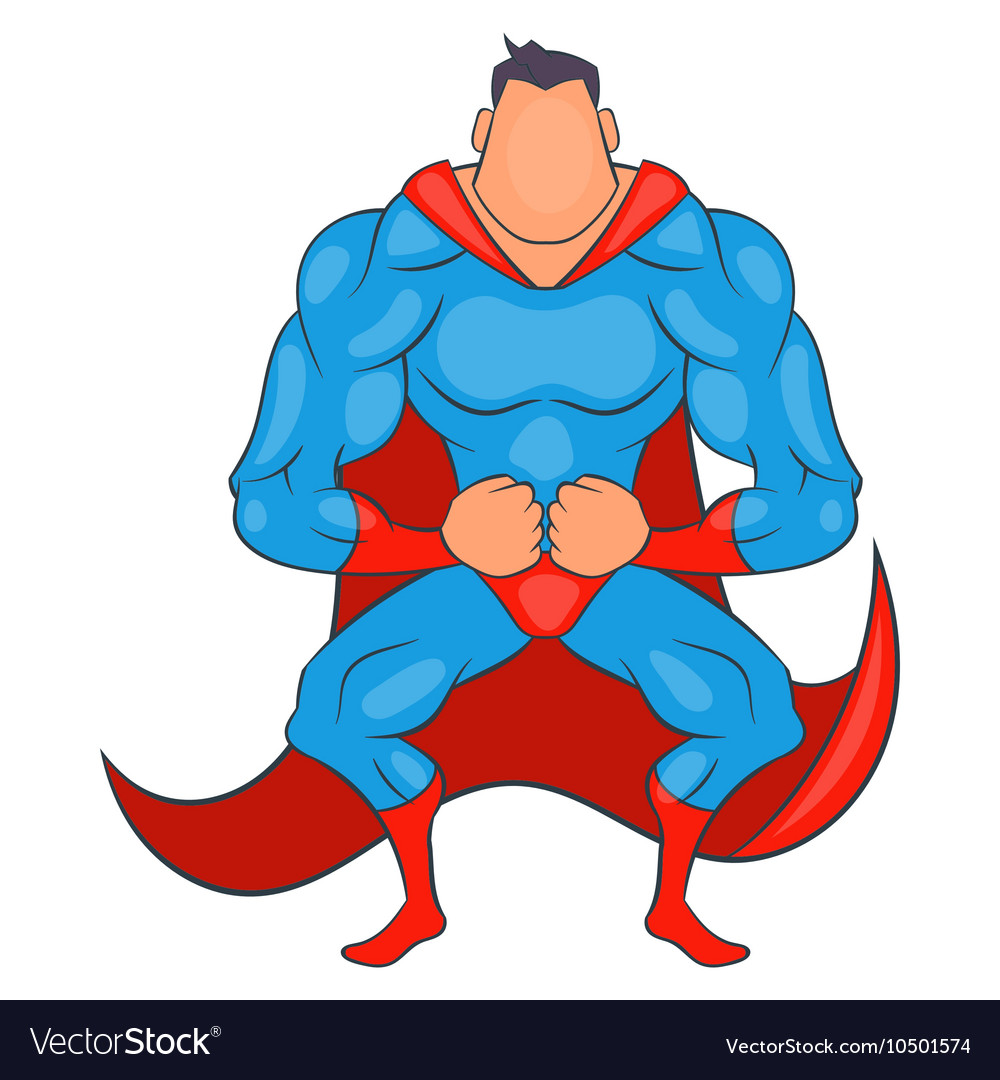 Super hero ready to fly icon cartoon style vector image