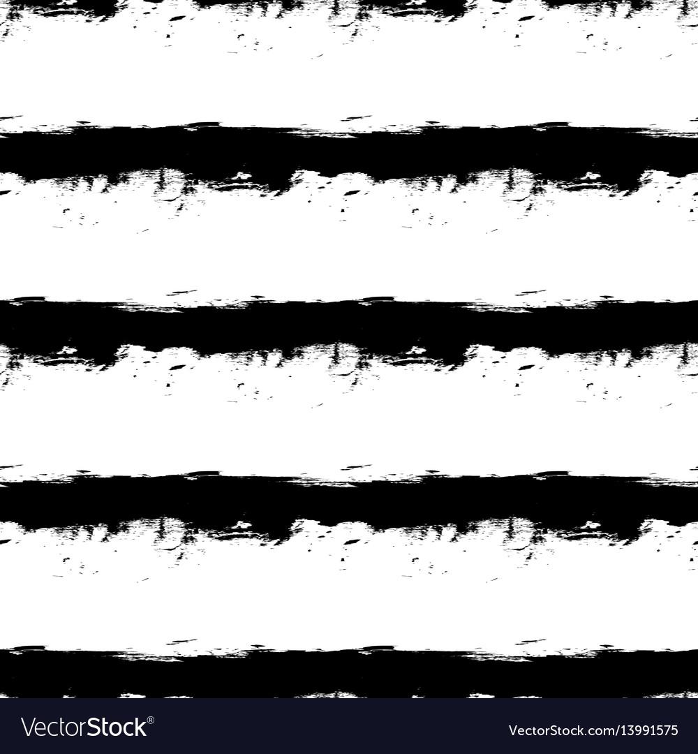 Black horizontal stripes on white background vector image