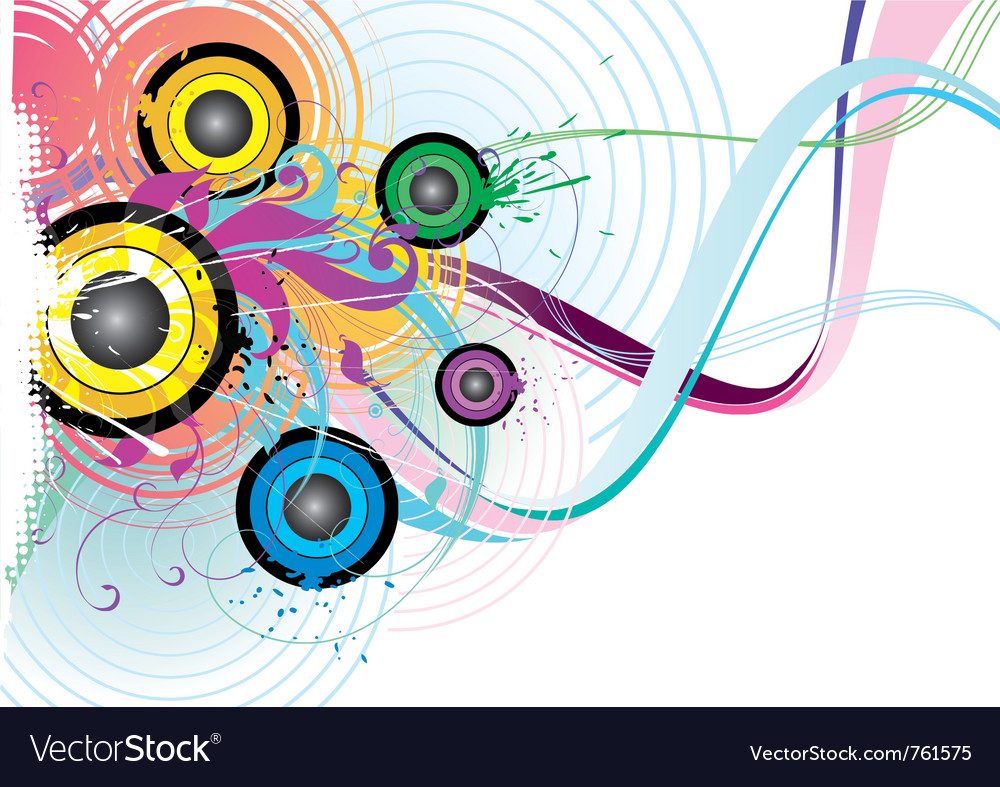 Flying music vector image