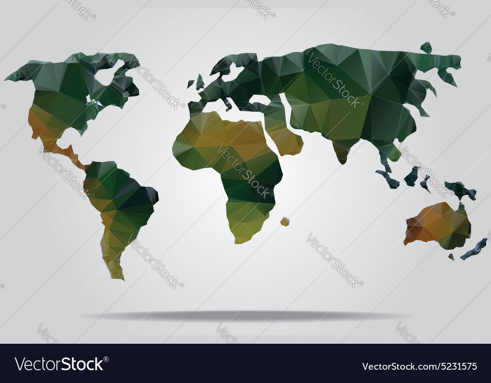 Watercolor world map royalty free vector image watercolor world map vector image gumiabroncs Image collections