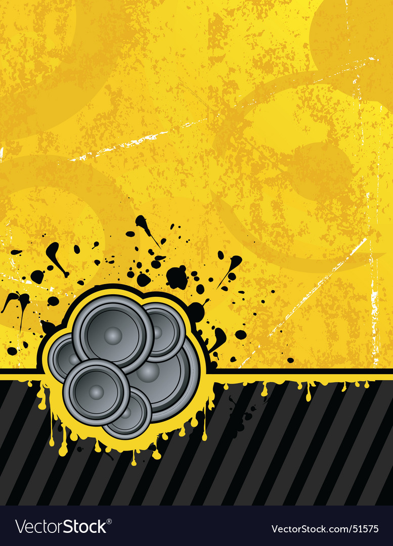 Yellow club speakers vector image