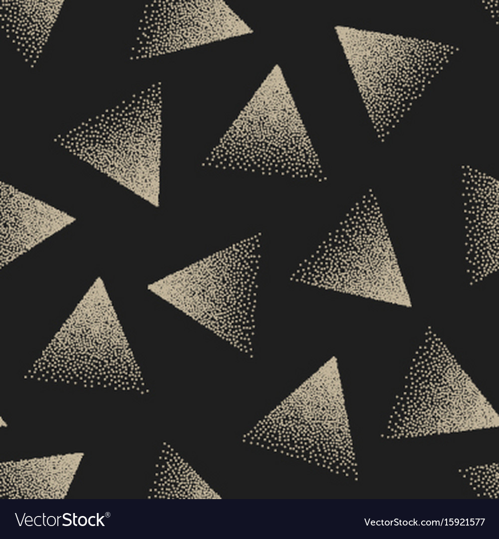 Abstract stippled seamless pattern vector image
