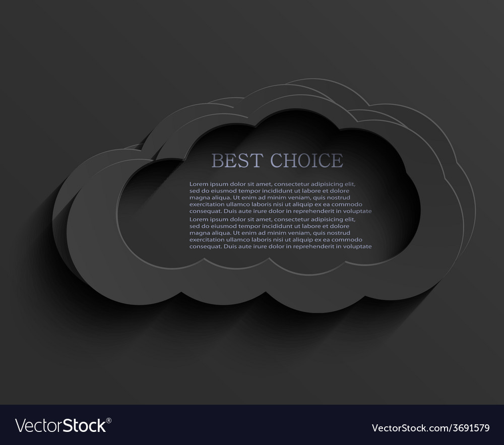 Modern dark cloud background vector image