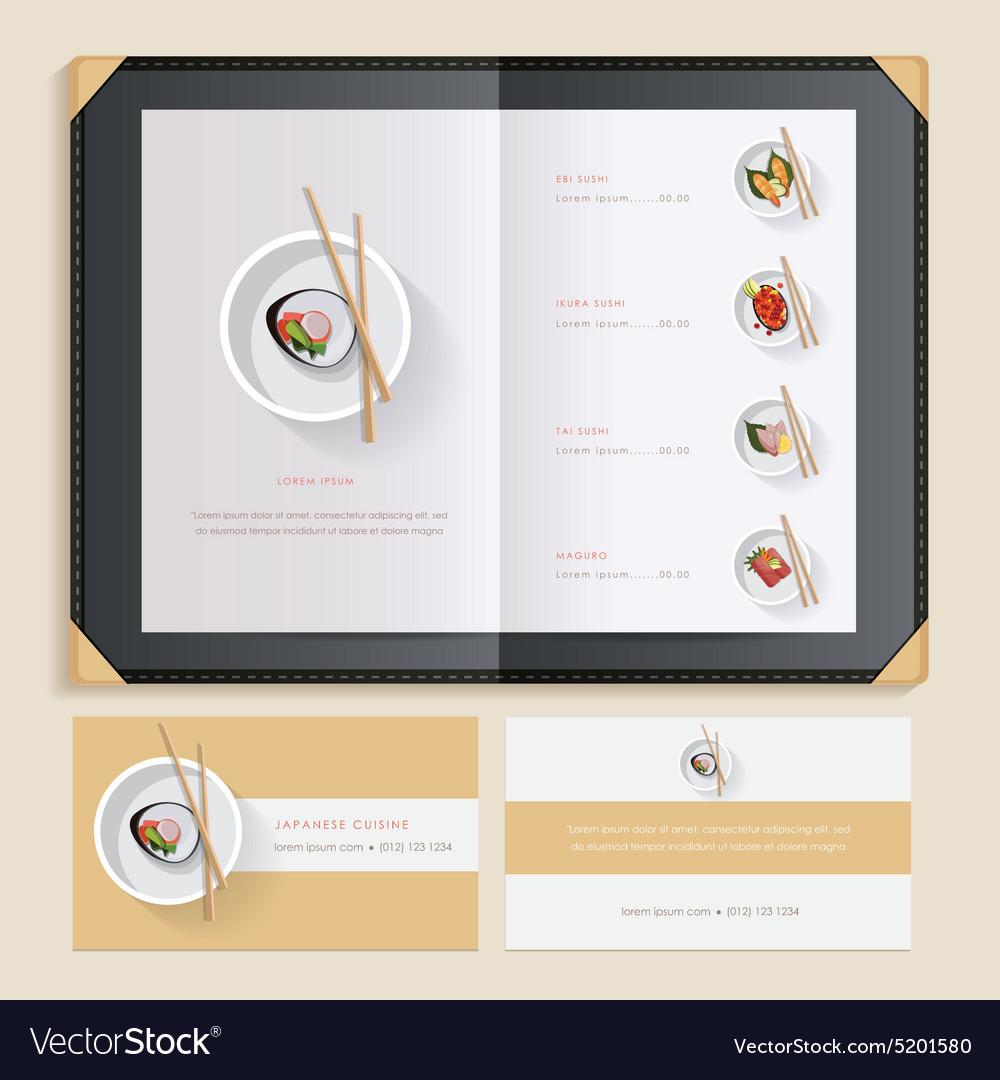 asian restaurant menu template royalty free vector image. Black Bedroom Furniture Sets. Home Design Ideas