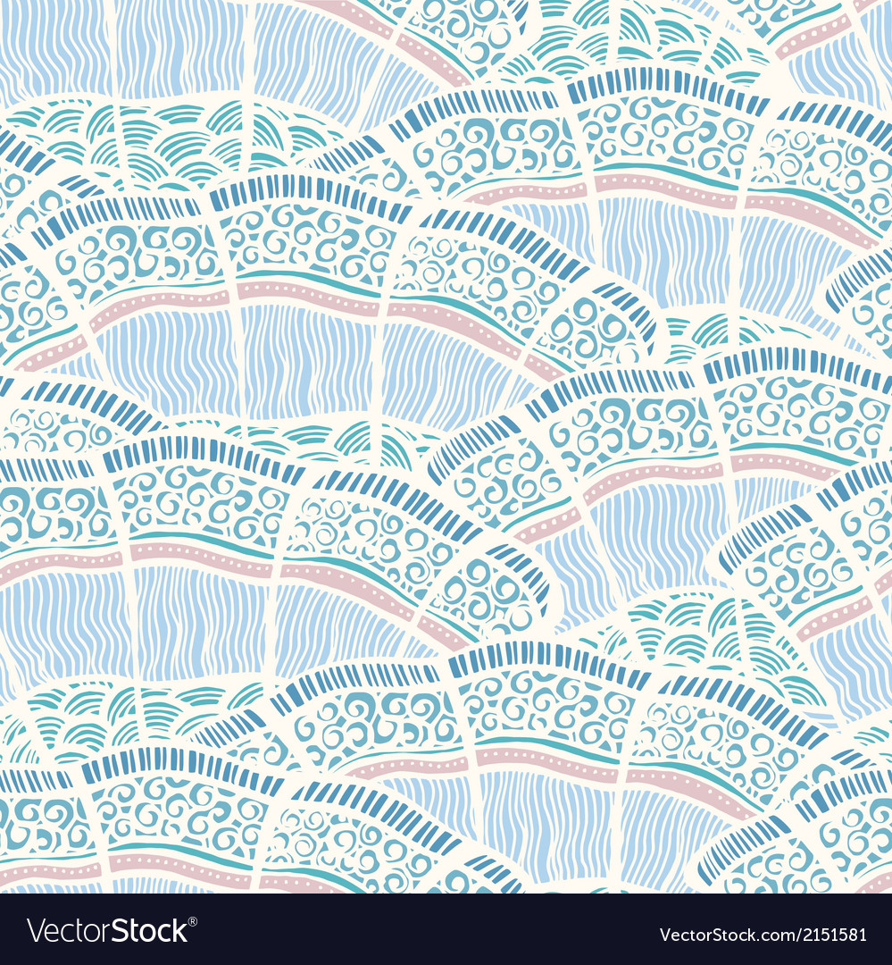 Seamless background pattern in retro style vector image