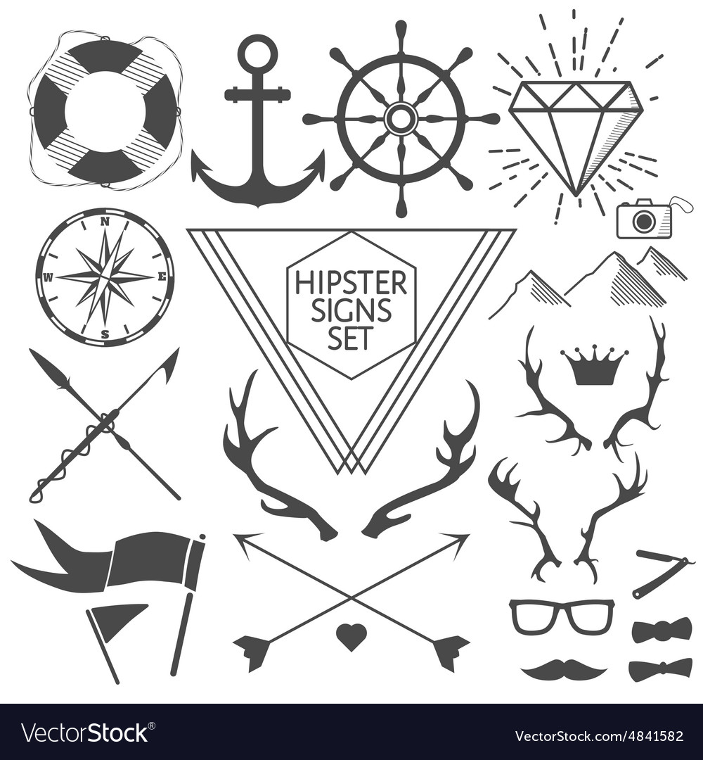 Book signs and symbols image collections symbol and sign ideas hipster signs and symbols set with anchor vector image hipster signs and symbols set with anchor buycottarizona
