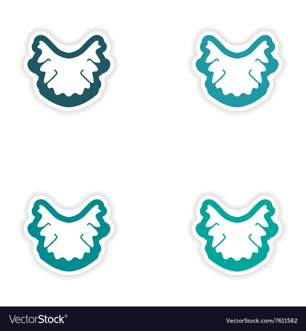 Set Of Paper Stickers On White Background Nerves Vector Image