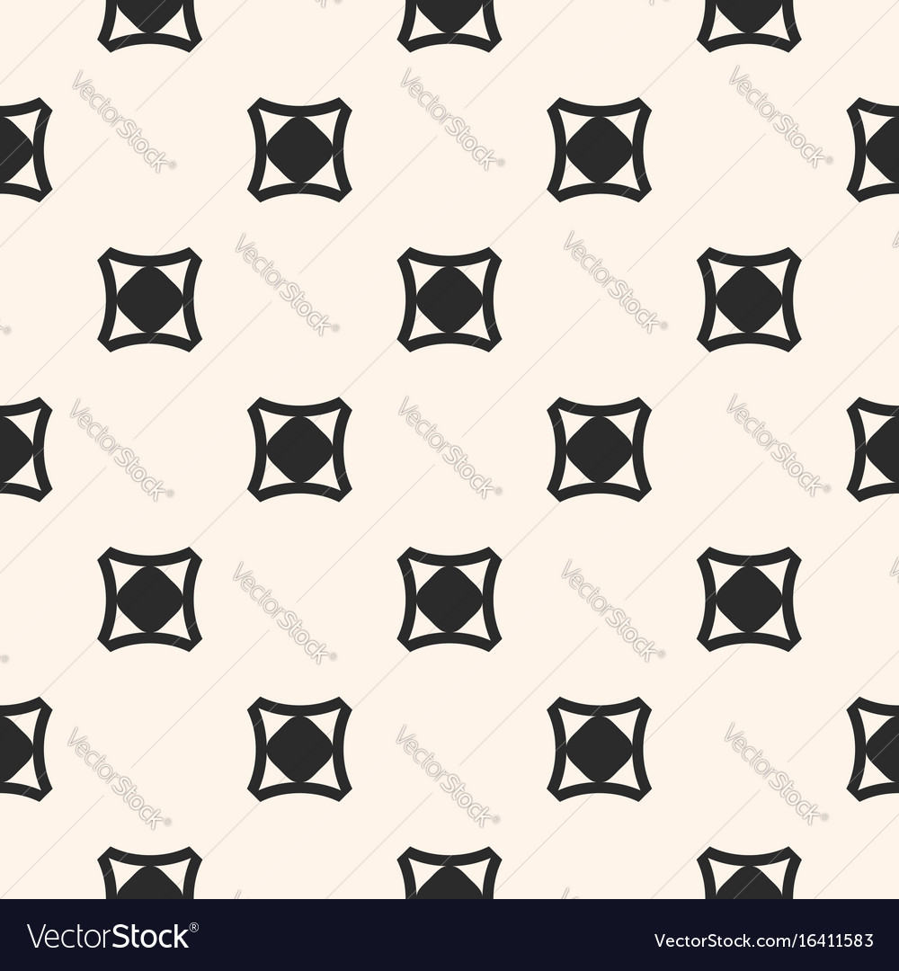 Funky style minimalist seamless pattern vector image