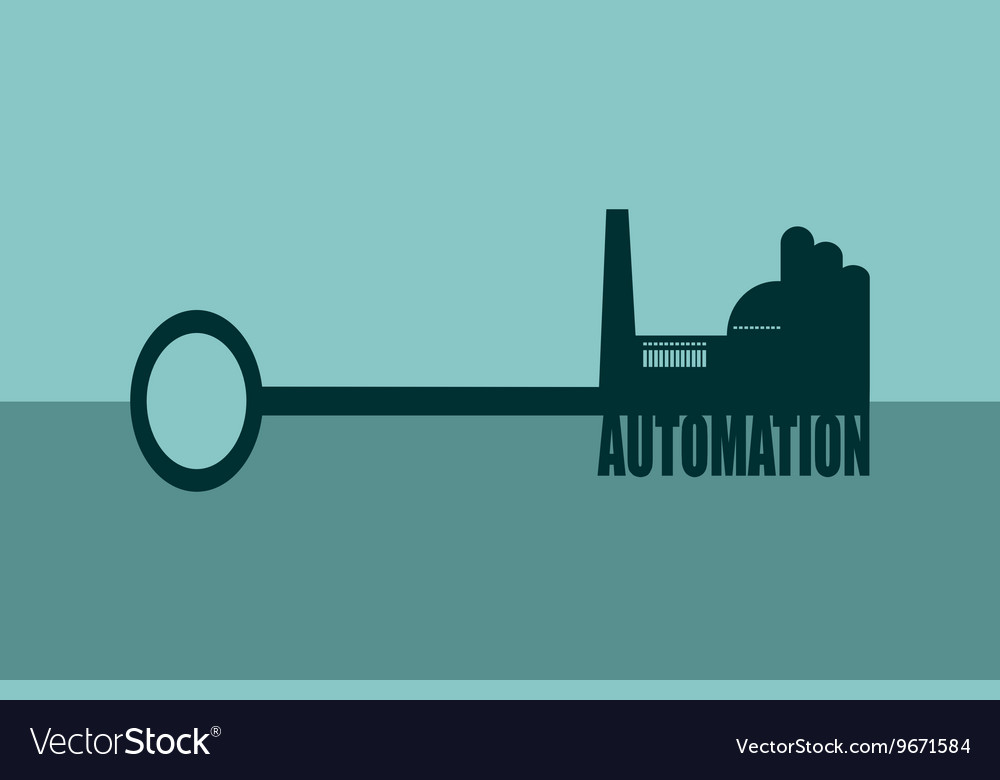 Concept of a key automation vector image