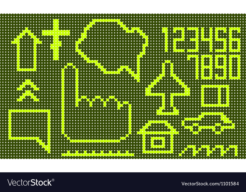 Set of abstract doted symbols vector image