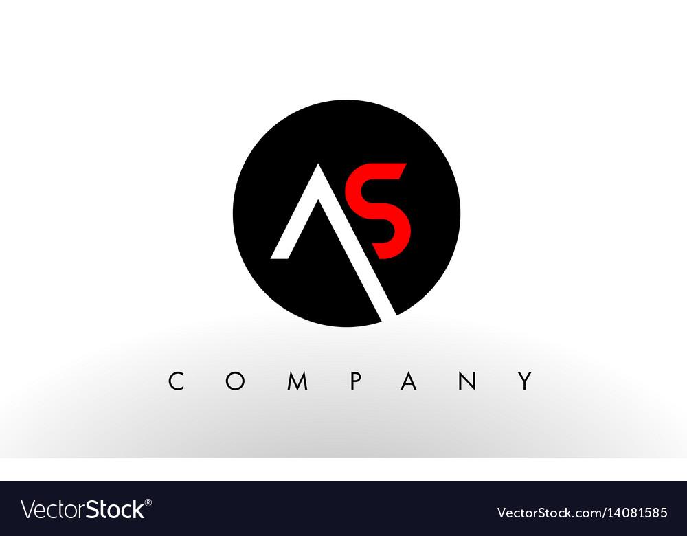 As logo letter design vector image