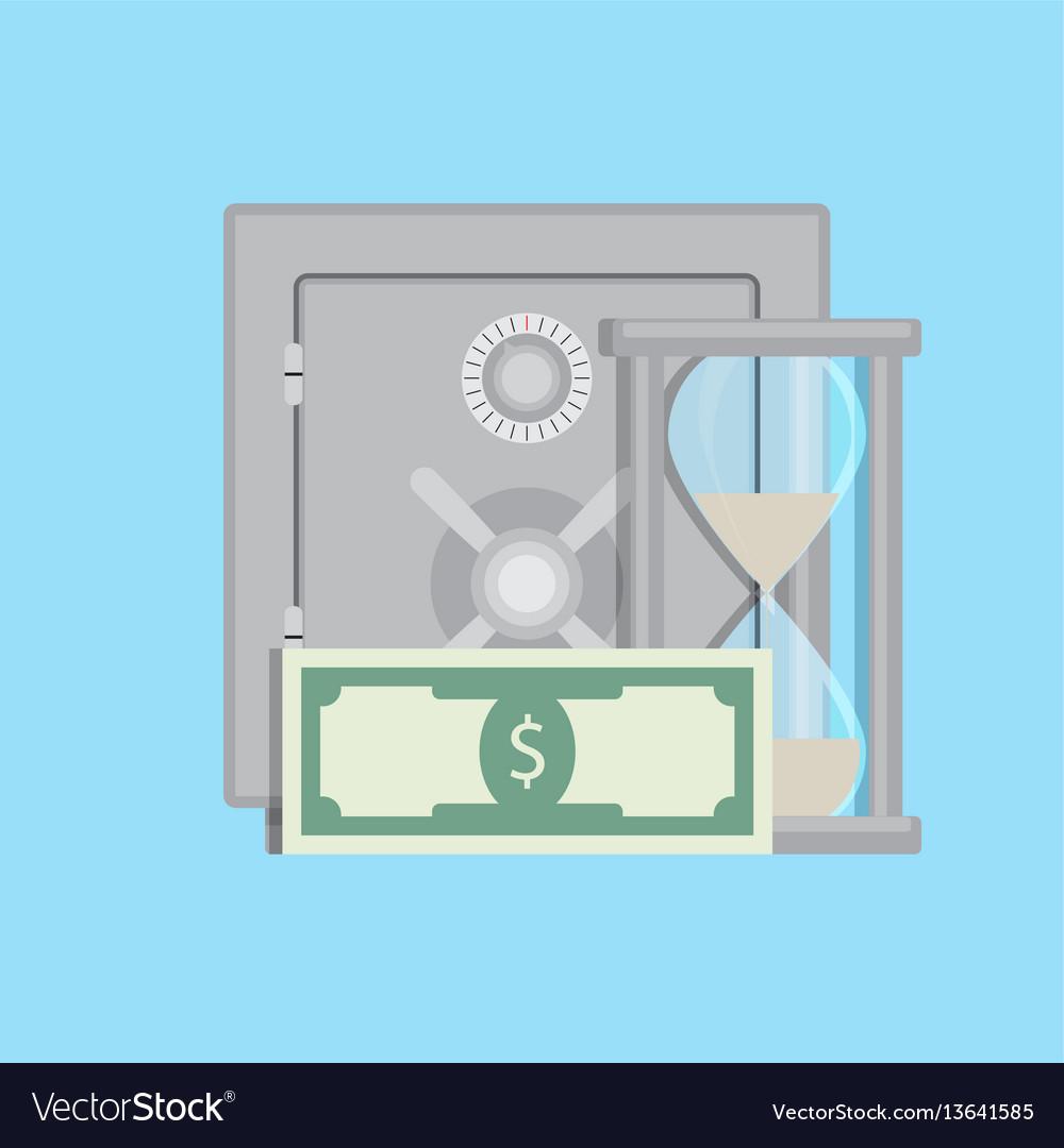 Capitalization in deposit vector image