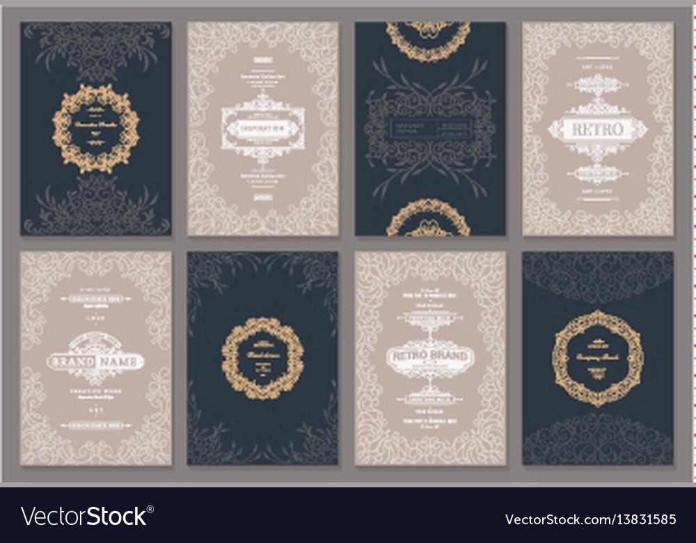 Creative card template vector image