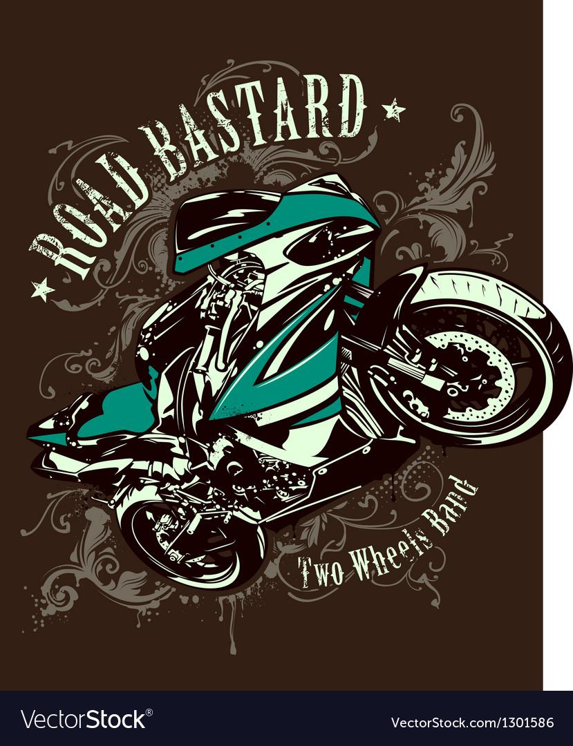Vintage image of sport motorbike vector image