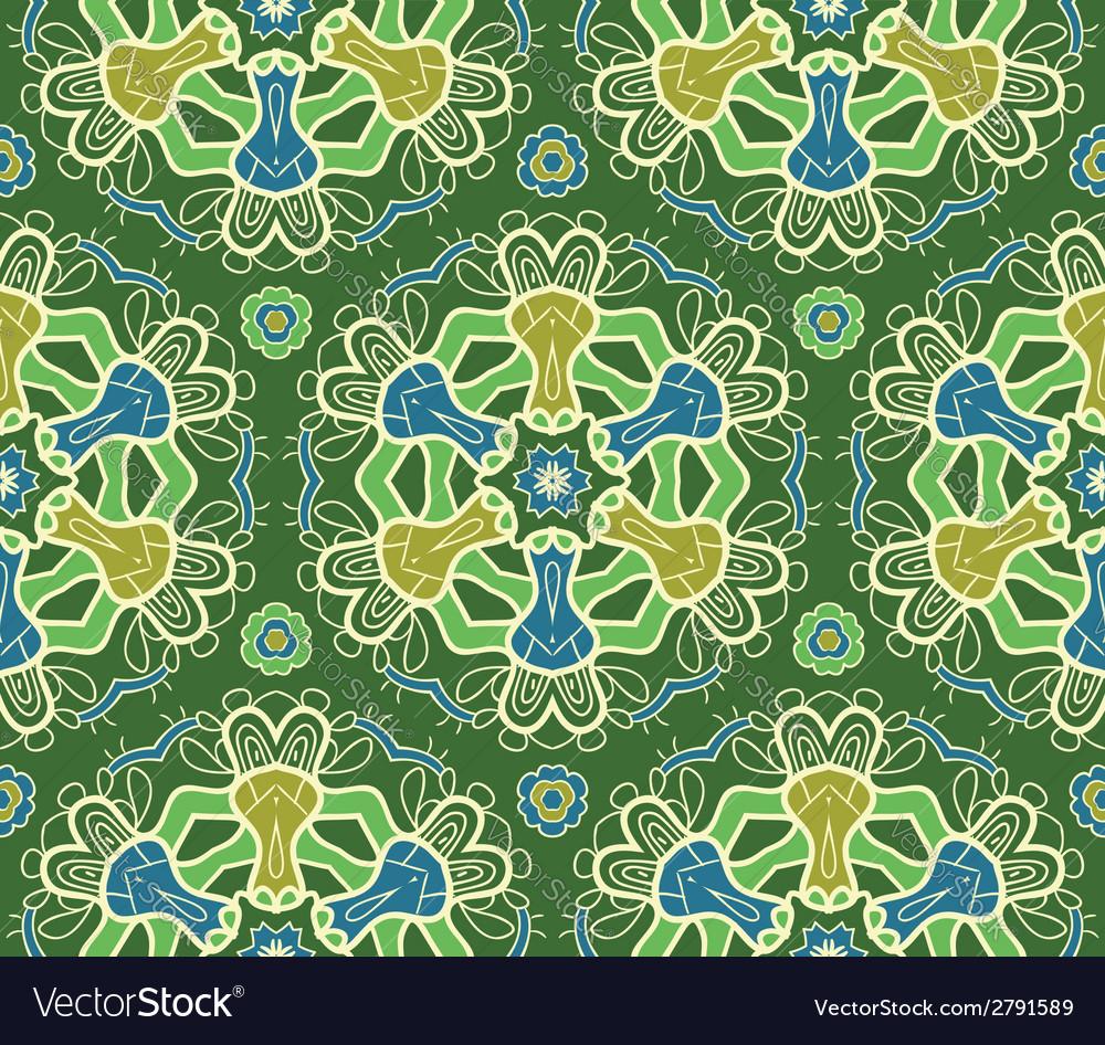 Seamless ornamental pattern vector image