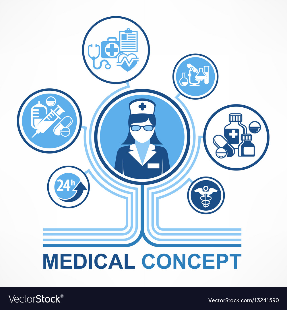 Medical nurse concept vector image