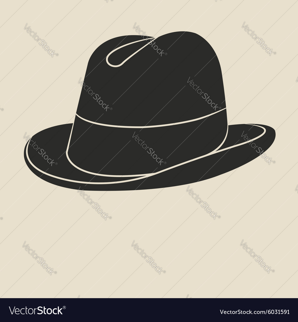Tweed hat label vector image