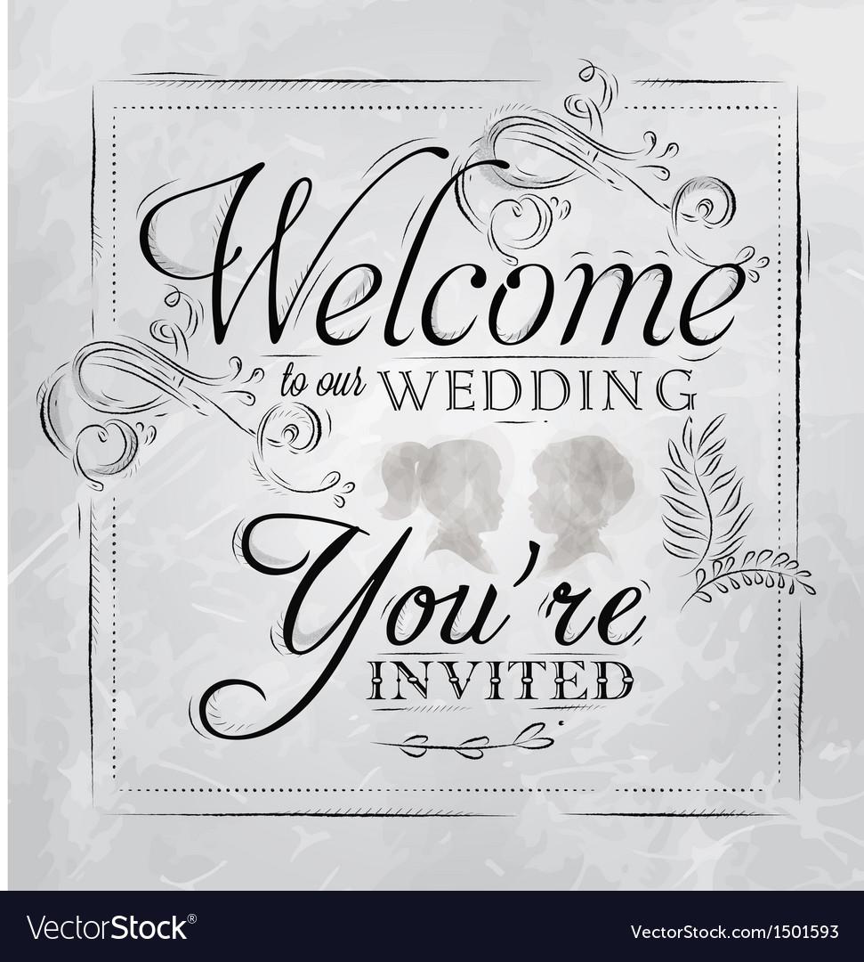 Wedding invitation coal vector image