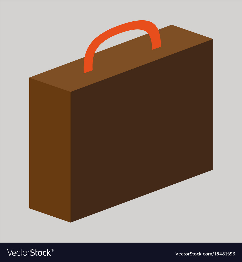 Flat icon on theme arabic business office suitcase