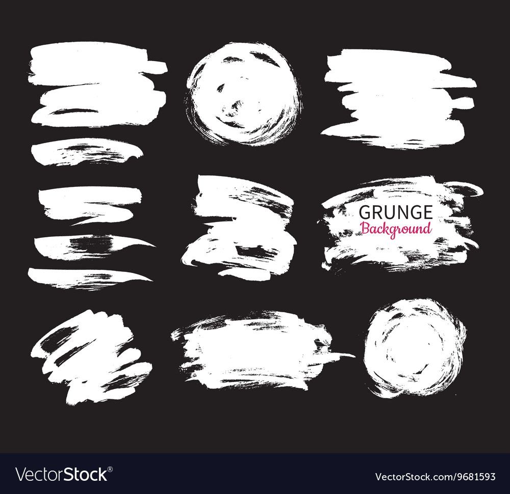 Grunge ink background set Abstract vector image