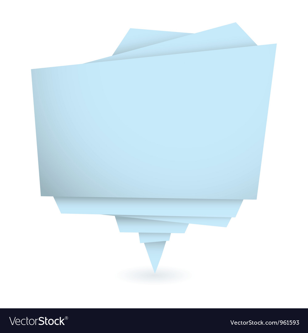 Origami blue element vector image