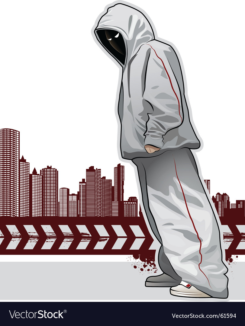 Urban gangster vector image