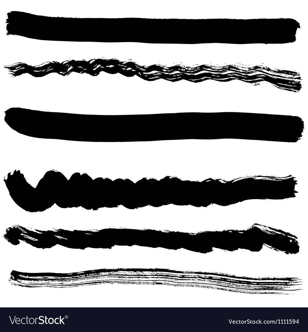 Brush blot on white background vector image