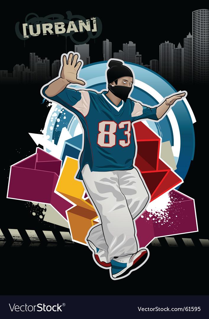 Urban gangster vector image