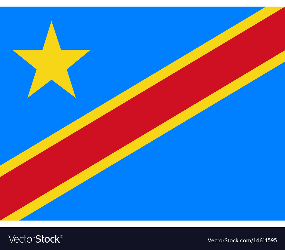 Colored flag of the democratic republic of the vector image
