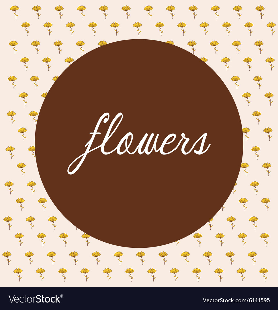 Flowers floral card vector image