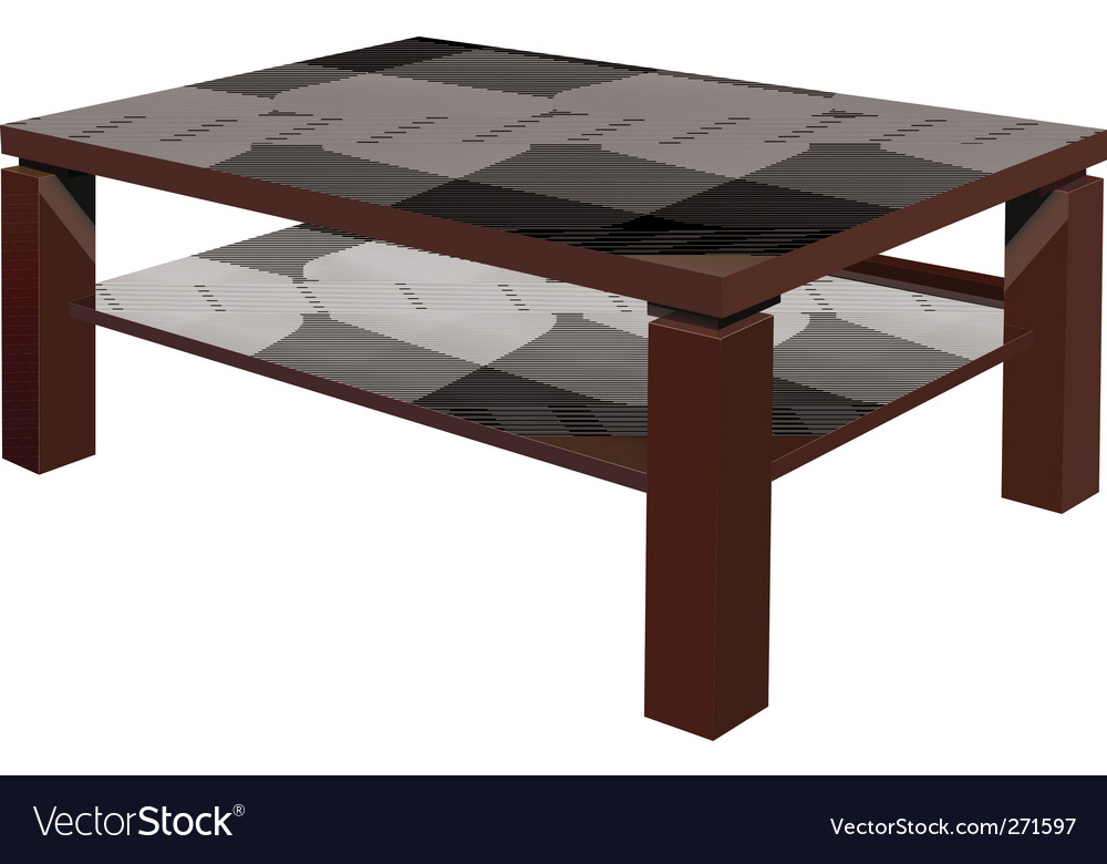 Living room table vector image
