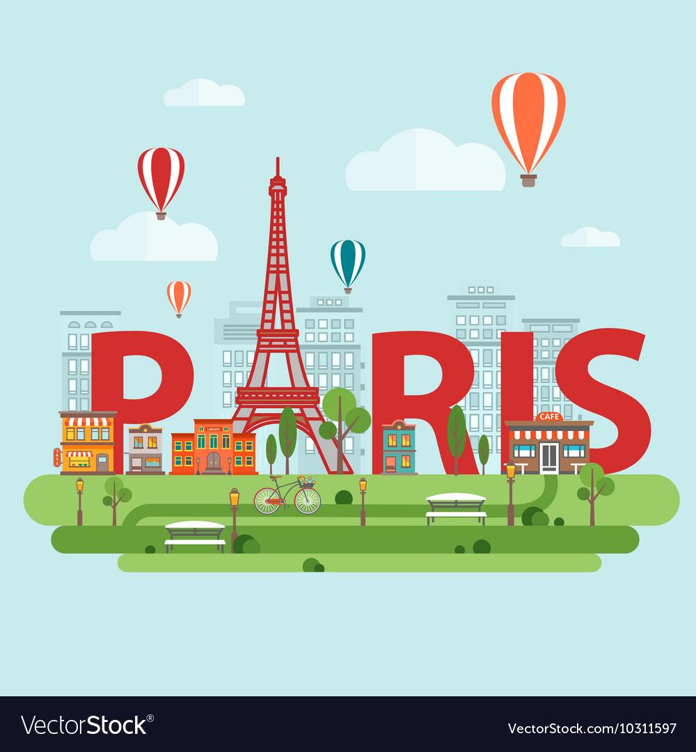 Paris City Sign vector image