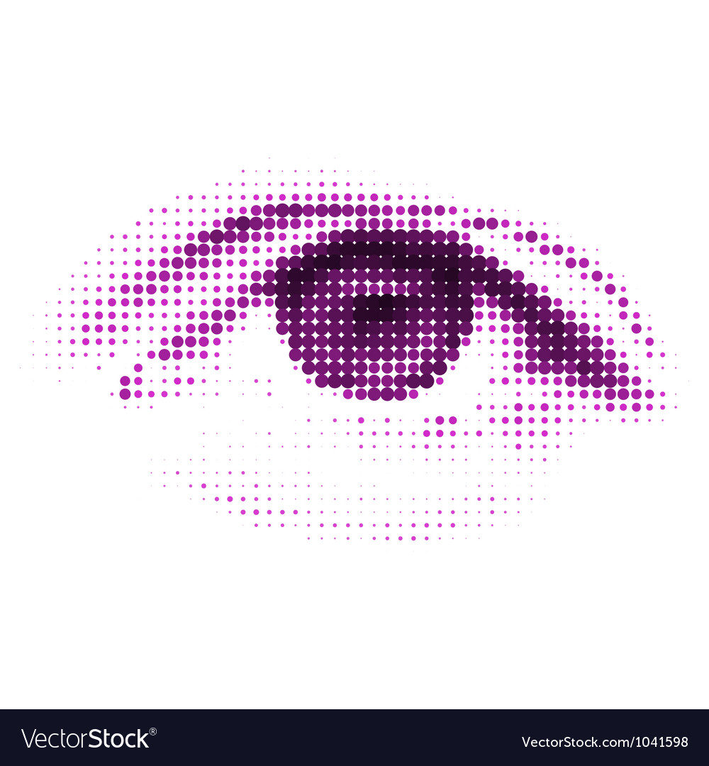Abstract halftone digital eye EPS 8 vector image