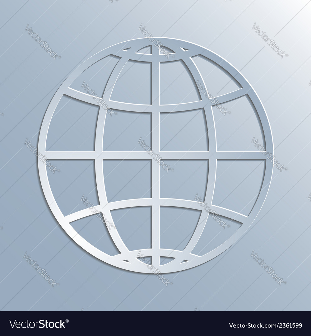 Earth symbol icon vector image