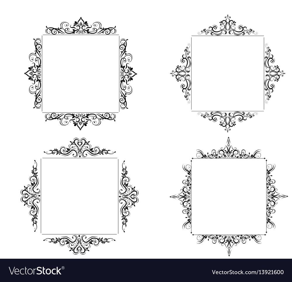 Vintage baroque frame vector image