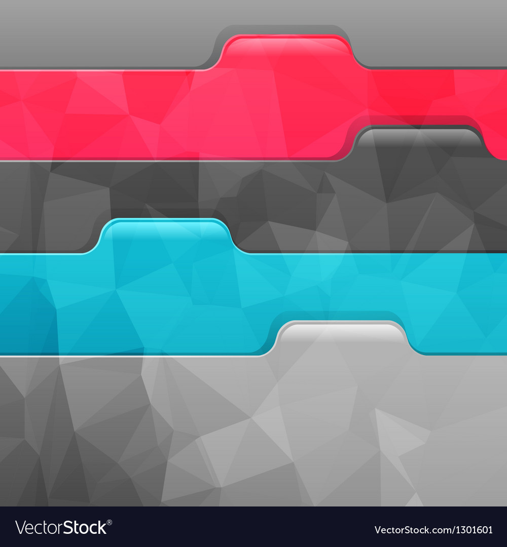 Business geometric background Paper numbered vector image