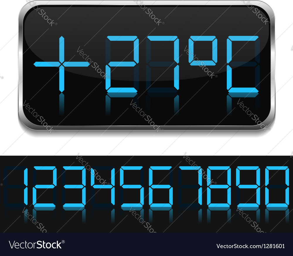 Digital Thermometer vector image