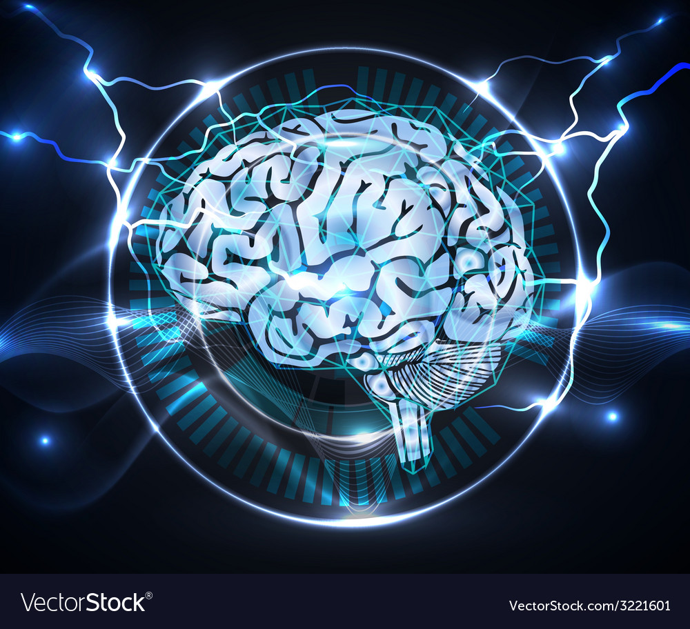 Power of brain vector image