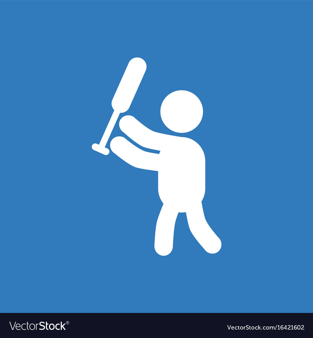 Silhouette of a baseball player