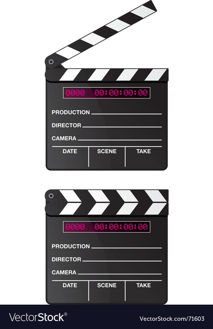 Digital movie clapper board vector image