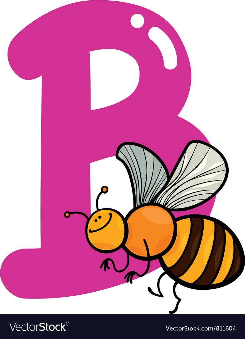 B for bee vector image